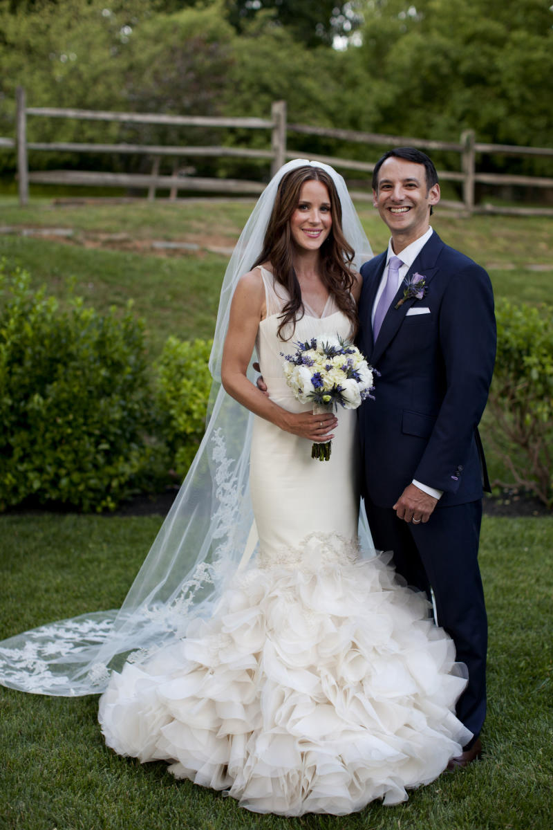 In this photo provided by the White House, Vice President Joe Biden's daughter Ashley Biden and her husband Dr. Howard Krein pose for a portrait at their wedding in Wilmington, Del., Saturday, June 2, 2012. Vice President Biden and his wife Jill issued a statement saying close family and friends attended the private ceremony on Saturday.  (AP Photo/The White House, David Lienemann)