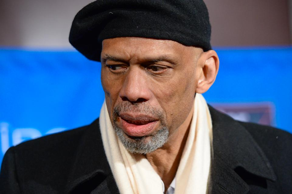 Kareem Abdul-Jabbar called for outrage over anti-Semitism. (Photo by Scott Roth/Invision/AP)