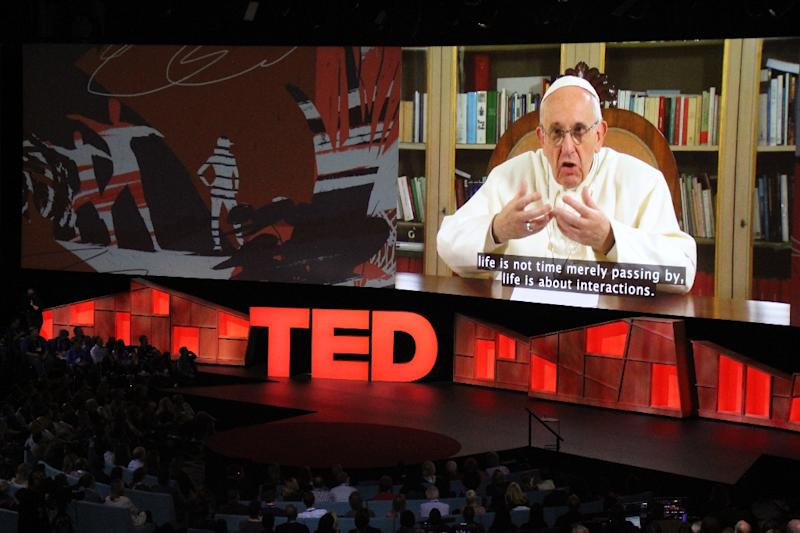 Pope urges powerful to act humbly in surprise TED talk appearance