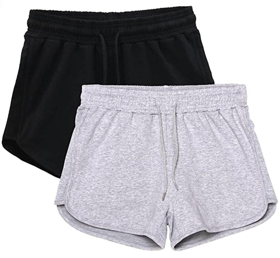 HBY Two-Pack Casual Sweat Shorts