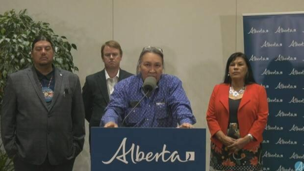 O'Chiese Chief Douglas Beaverbones says the funding is a big step for First Nations (Alberta Government - image credit)