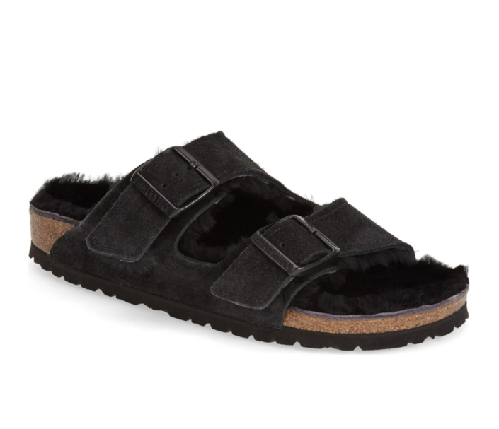 Arizona Genuine Shearling Lined Slide Sandal. Image via Nordstrom.