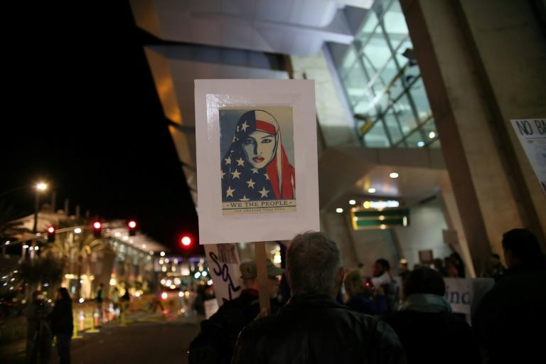 The United States has seen regular protests, as here in San Diego on March 6, against President Donald Trump's revised travel ban