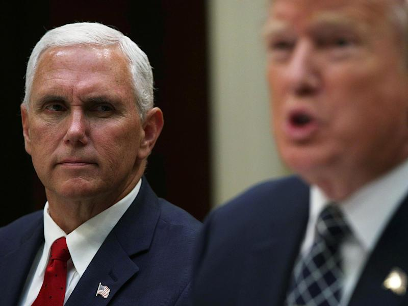 Mike Pence is 'planning for his presidential inauguration' claims Democract congresswoman Maxine Waters: Getty