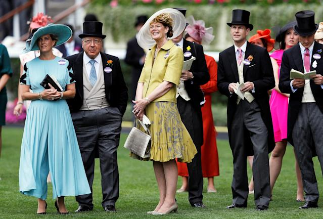 Horse Racing - Royal Ascot - Ascot Racecourse, Ascot, Britain - June 20, 2018 Sophie, Countess of Wessex and Prince Edward REUTERS/Peter Nicholls