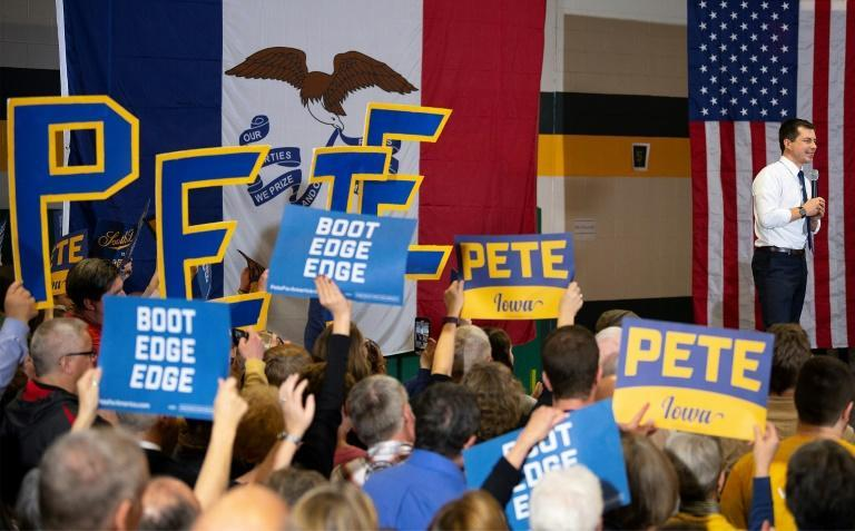 """Pete Buttigieg says he is """"better positioned"""" to beat President Donald Trump than any of the other Democratic hopefuls (AFP Photo/JIM WATSON)"""