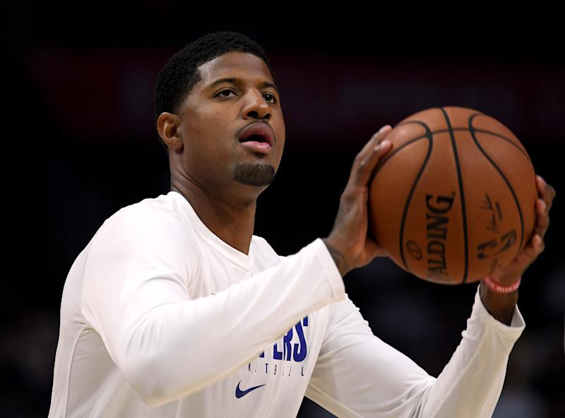 After practicing without restriction for the first time, Paul George said Saturday that he's nearly ready to make his debut in Los Angeles.