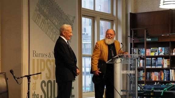 Aldrin and his co-author, veteran space reporter Leonard David, talked about the implications of putting people permanently on Mars.