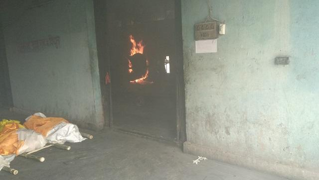 Most of the Covid-19 dead bodies in Patna are cremated at Bansghat.
