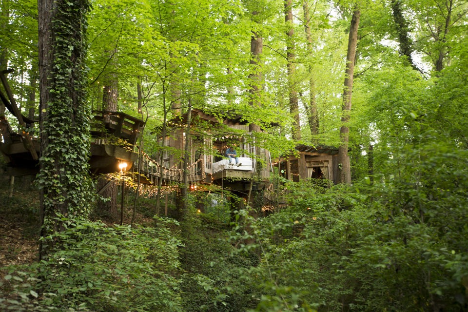 Nestled in the forest is this fairy tale-esque secluded treehouse in Atlanta, USA. Photo: supplied.