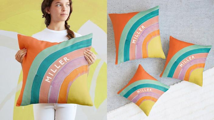 This bright pillow will put a smile on anyone's face.