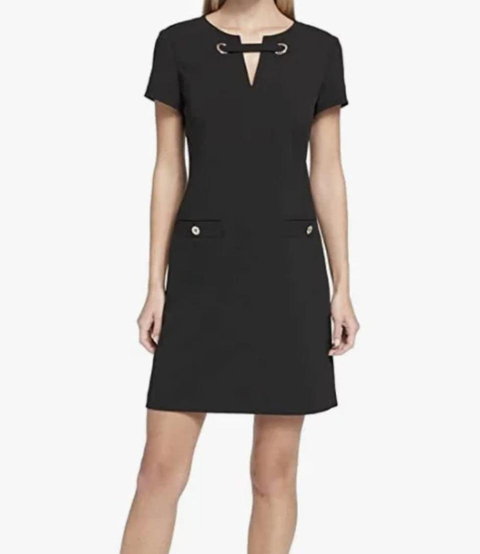 <p>For something chic that'll work both inside and outside of the office, opt for this <span>Tommy Hilfiger Scuba Crepe Two-Pocket Dress</span> ($31-$110).</p>