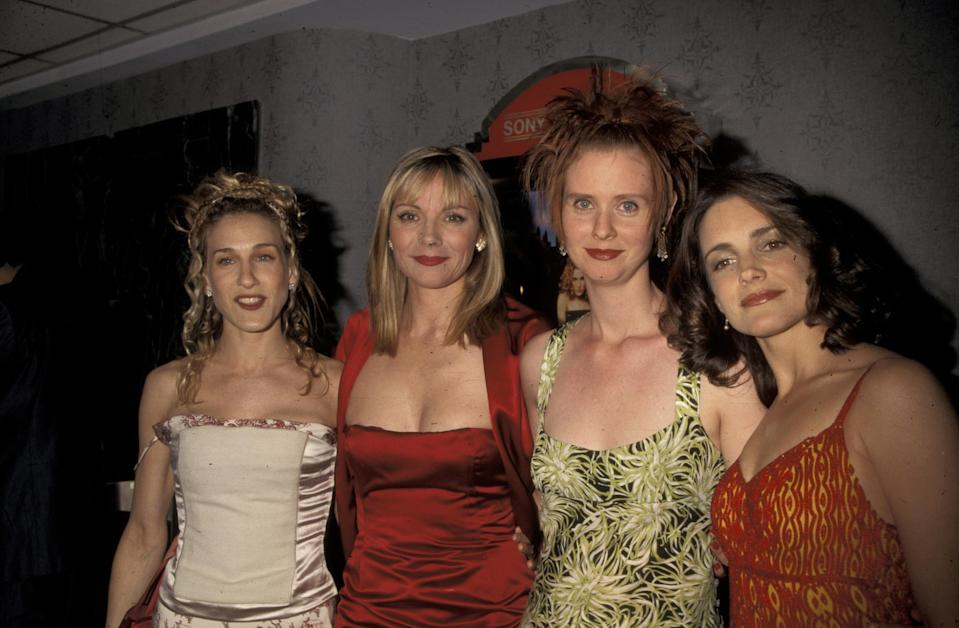 The way they were: Sarah Jessica Parker, Kim Cattrall, Cynthia Nixon, and Kristin Davis at a 1998 screening for <i>Sex and the City</i>, (Photo: Ron Galella, Ltd./WireImage)