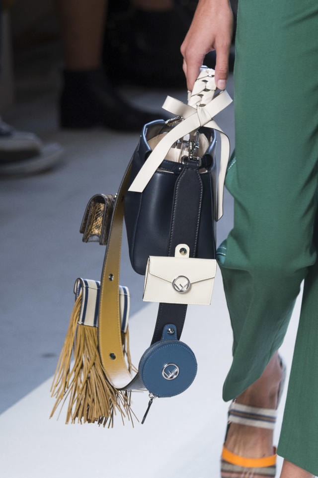 <p><i>Leather handbag with mini attached wallets, from the SS18 Fendi collection. (Photo: ImaxTree) </i></p>
