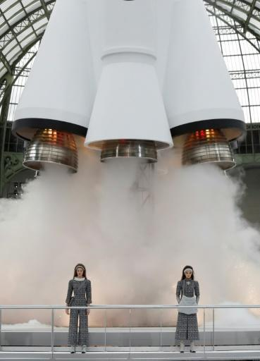 In 2017, Karl Lagerfeld launched the Chanel Autumn/Winter collection in Paris in front of a replica space rocket