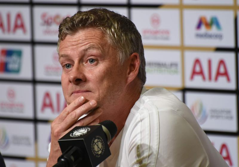 Manchester United manager Ole Gunnar Solskjaer during the club's official media conference at the International Champions Cup. (PHOTO: Zainal Yahya/Yahoo News Singapore)