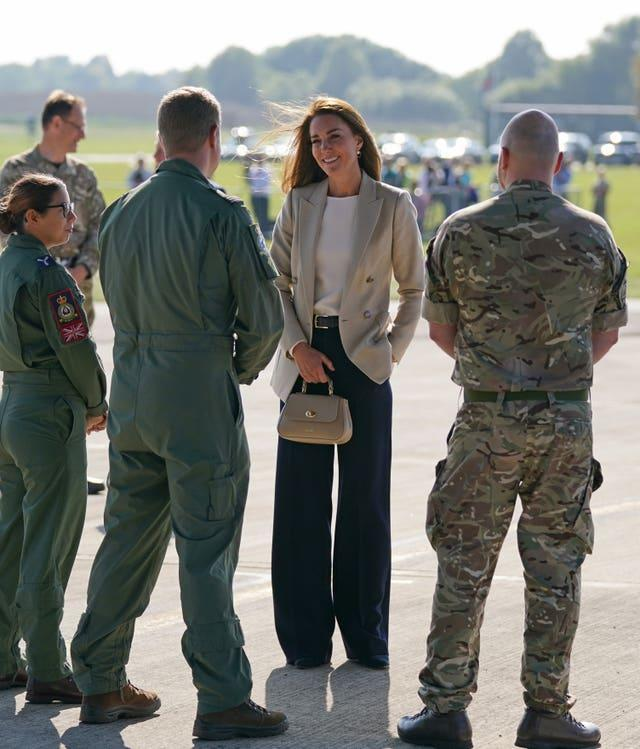 Kate spoke with those involved in August's rescue efforts from Afghanistan (Steve Parsons/PA)