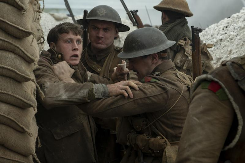 """George MacKay, left, in the recent best picture contender """"1917."""""""
