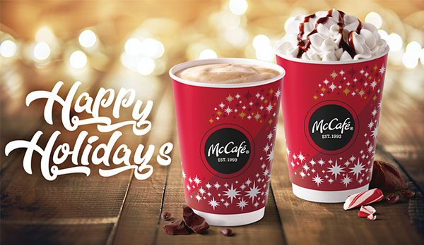 Peppermint Mocha and Peppermint Hot Chocolate are back at McDonald's today.  (McDonalds)