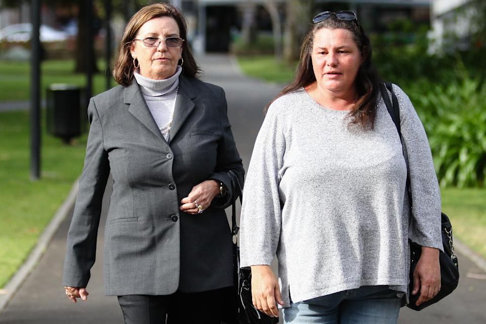 Margaret Dodd, pictured with her sister Toni Dodd leaving the Supreme Court trial of her daughter's accused killer Francis Wark in October, 2017. Source: AAP