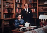 <p>Here's a rare look at the royal study inside Balmoral.</p>