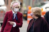 U.S. President Donald Trump rape accuser E. Jean Carroll and her lawyers arrive for her hearing at federal court