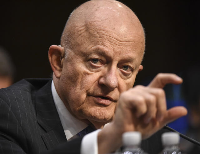 Former Director of National Intelligence James Clapper. (Bill O'Leary/Washington Post via Getty Images)