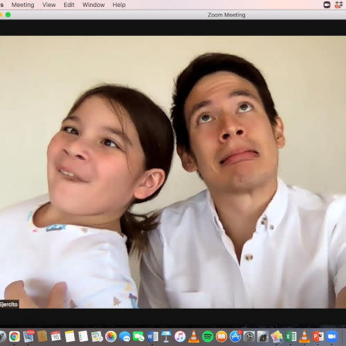 Jake Ejercito enjoys spending time and goofing with daughter Ellie