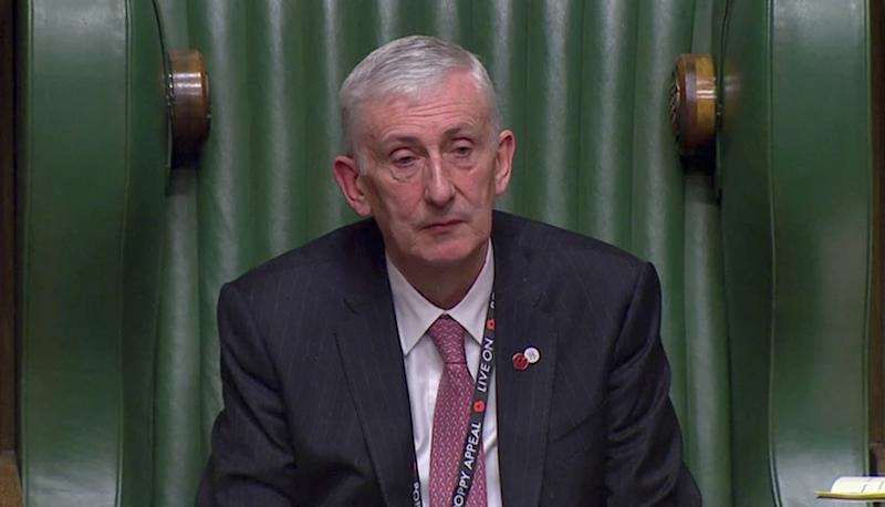 New Commons Speaker Sir Lindsay Hoyle paid tribute to his late daughter (Picture: Reuters)