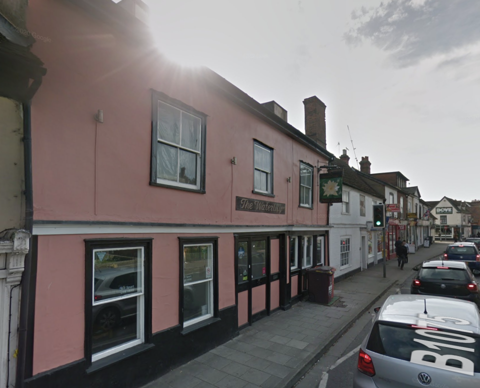The incident took place outside the Waterlily pub in Ipswich. (Google Maps)