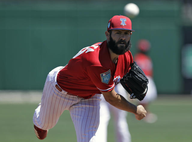 Jake Arrieta makes the Phillies a lot better in 2018. (AP Photo)
