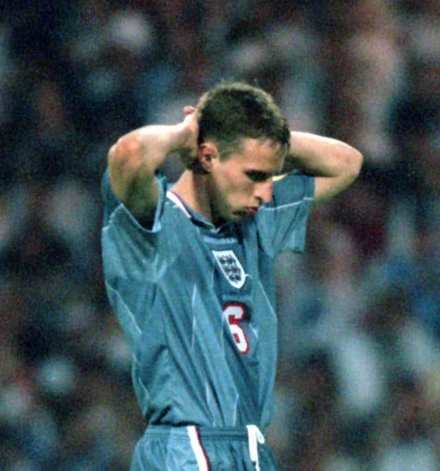 Gareth Southgate's penalty miss against Germany ended England's hopes at Euro '96