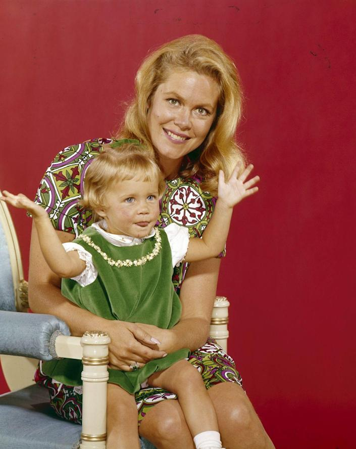 """<p>Erin was as cute as can be when she was cast as daughter Tabitha in the hugely successful TV series <em><a href=""""https://www.amazon.com/Bewitched-Season-1/dp/B001Q5NL3Q?tag=syn-yahoo-20&ascsubtag=%5Bartid%7C10050.g.24736857%5Bsrc%7Cyahoo-us"""" rel=""""nofollow noopener"""" target=""""_blank"""" data-ylk=""""slk:Bewitched"""" class=""""link rapid-noclick-resp"""">Bewitched</a></em>. She originally shared the role with her fraternal twin sister, Diane. Erin appeared in 103 episodes by the time the show ended in 1972.</p>"""
