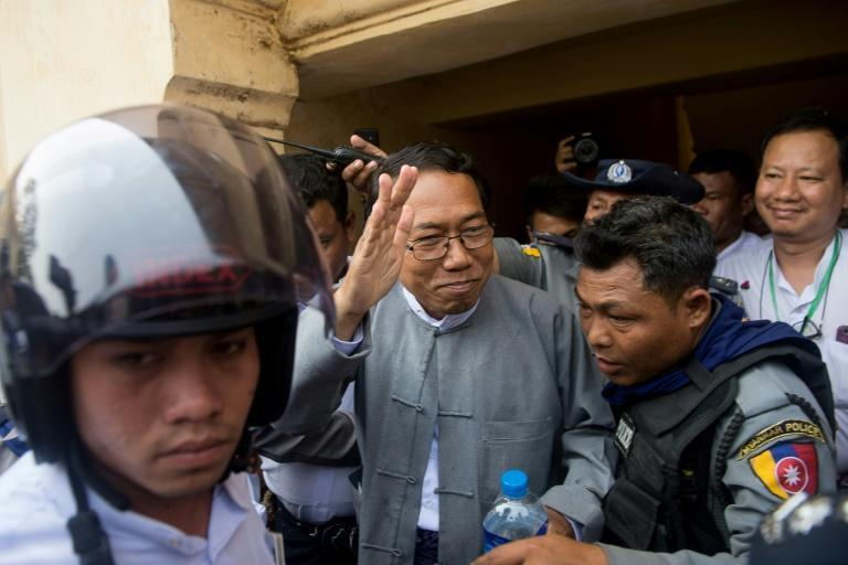 The new junta has released Aye Maung (C), a prominent Rakhine nationalist who was jailed by Suu Kyi's government in 2019 over a speech he gave in Rakhine state a day before deadly riots