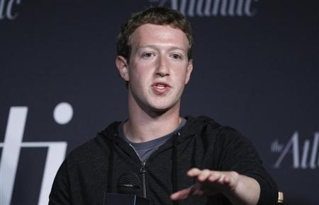 Zuckerberg delivers remarks in an onstage interview for the Atlantic Magazine in Washington