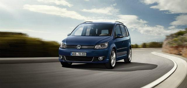 Blue Volkswagen Touran