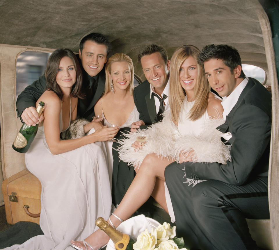The Friends cast is offering fans the chance to attend their reunion taping — for a good cause. (Photo: NBCU Photo Bank/NBCUniversal via Getty Images via Getty Images)