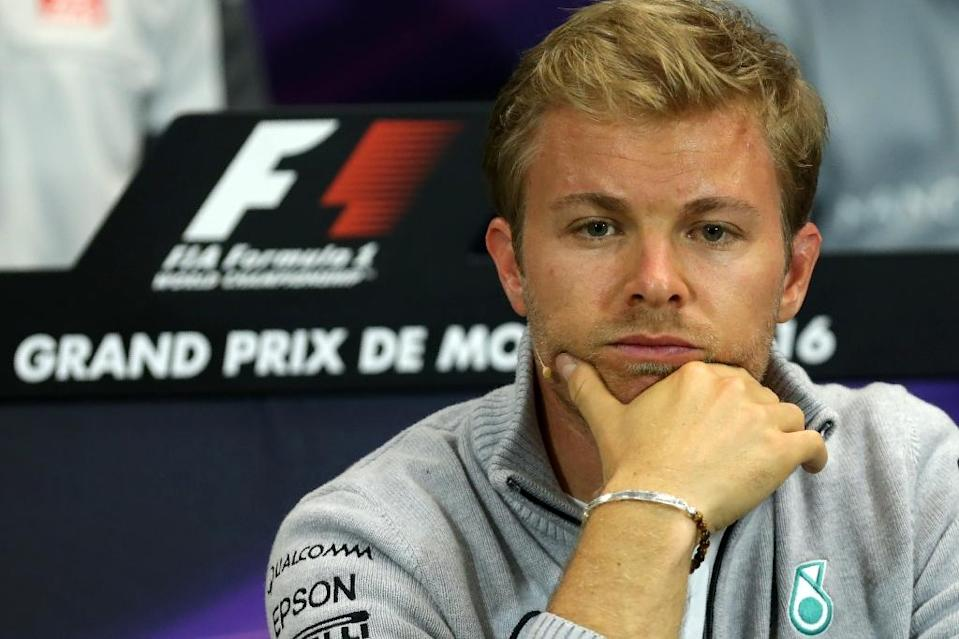 Lewis Hamilton crashed with his Mercedes team-mate Nico Rosberg (pictured) at the Spanish Grand Prix (AFP Photo/Jean-Christophe Magnenet)