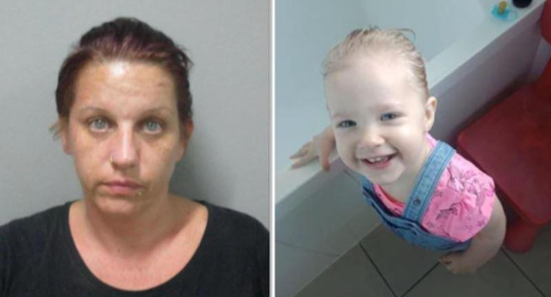 A woman (left) and a two-year-old girl (right) are missing in Brisbane. They have not been seen since Friday.