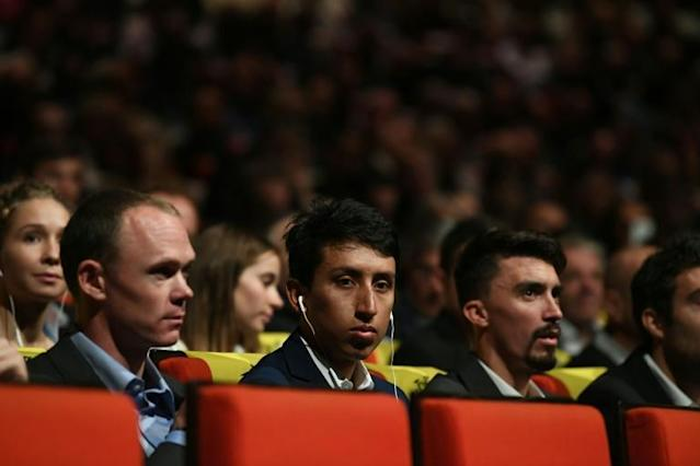 Froome, Bernal and Alaphilippe at the 2020 Tour unveiling (AFP Photo/Alain JOCARD)