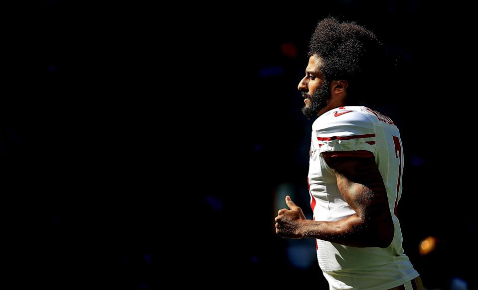 Colin Kaepernick remains a lightning rod for the NFL. (Getty Images)