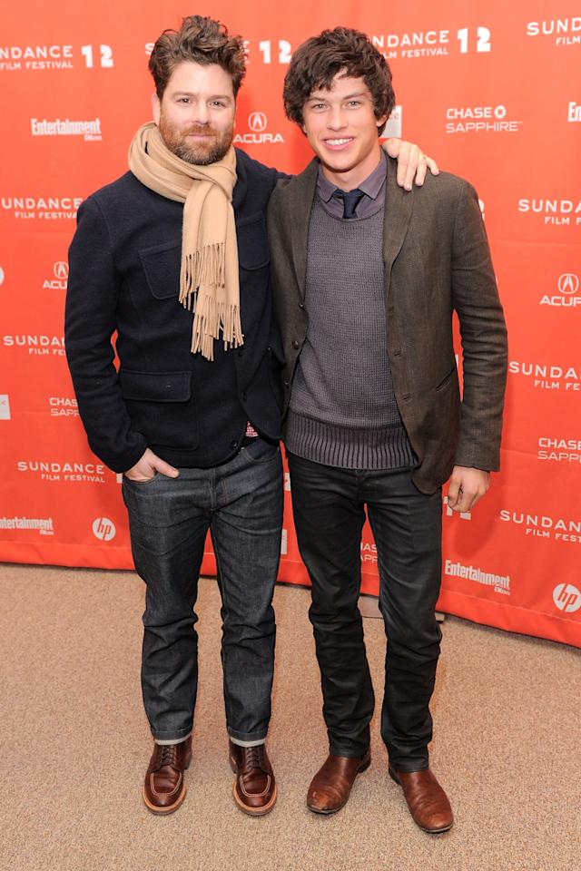 "PARK CITY, UT - JANUARY 24:  Christopher Neil and Graham Phillips attend the ""GOATS"" premiere during the 2012 Sundance Film Festival held at Eccles Center Theatre on January 24, 2012 in Park City, Utah.  (Photo by Jemal Countess/Getty Images)"