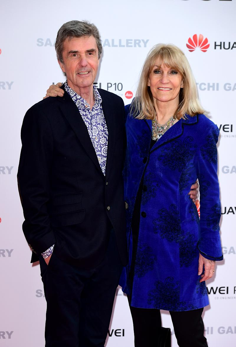 Lynn Faulds Wood (right) and John Stapleton (left) attending the From Selfie to Self-Expression exhibition at the Saatchi Gallery in London. (Photo by Ian West/PA Images via Getty Images)