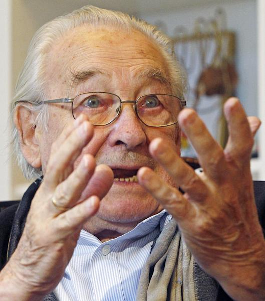 """HOLD FOR STORY BY MONIKA SCISLOWSKA - In this Aug. 13, 2013, photo, Poland's Oscar-winning filmmaker Andrzej Wajda speaks during an interview with The Associated Press in Warsaw, Poland, about his latest film """"Walesa: Man of Hope."""" In the film, Wajda portrays the rise to national hero status of Solidarity founder, electrician Lech Walesa, whose charisma helped him lead a massive worker strike and successfully negotiate concessions from Poland's communist leaders in 1980, and negotiate Solidarity's access to power in 1989. Wajda said that the movie, which has its world premiere next month at the 70th Venice Film Festival, was the hardest he ever made, because the hero is still living and free to comment on his portrayal. (AP Photo/Czarek Sokolowski)"""