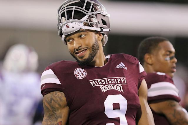 Mississippi State defensive end Montez Sweat smiles before a game against Louisiana Tech. (AP Photo)