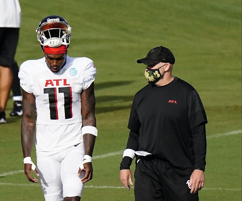 Falcons coach Dan Quinn gives update on Julio Jones' hamstring