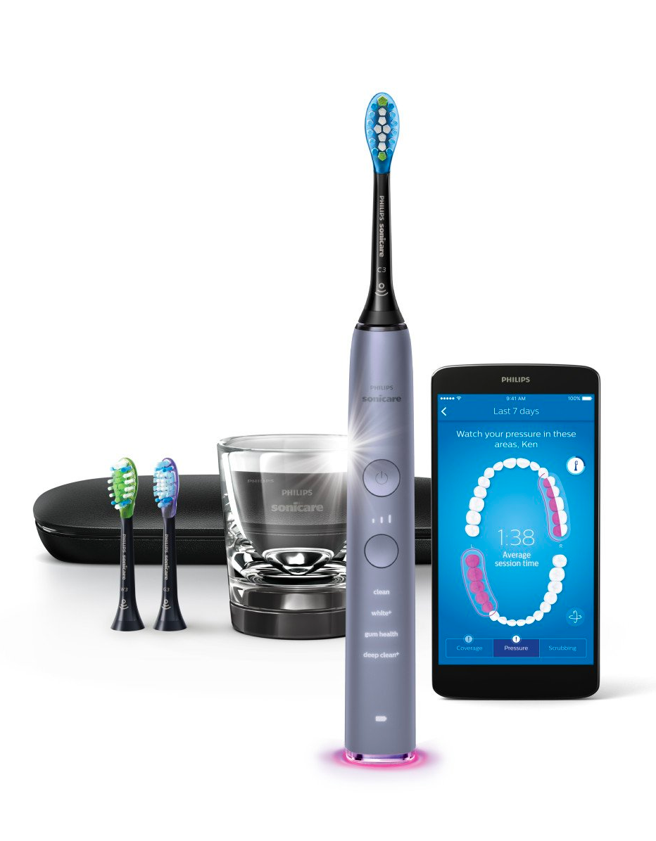 """My boyfriend's electric toothbrush broke recently, so I plan on surprising him with a new one for the holidays. I've had the pink version of this Philips toothbrush for a few years now, so I know it's a good investment—and then we can share chargers and new heads as well. —<em>T.A.</em> $230, Amazon. <a href=""""https://www.amazon.com/Philips-Sonicare-Rechargeable-Toothbrush-HX9903/dp/B06XSH2SS8/ref=sr_1_1_sspa"""" rel=""""nofollow noopener"""" target=""""_blank"""" data-ylk=""""slk:Get it now!"""" class=""""link rapid-noclick-resp"""">Get it now!</a>"""