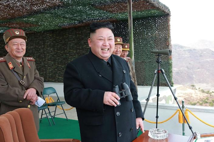 If confirmed to be a missile, it would be the latest such launch by the regime of North Korean leader Kim Jong-Un (AFP Photo/STR)