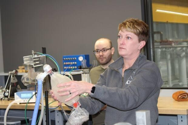 Wendy Foote is a professor at St.Clair College and is working on the project to test out how effective the prototype models of the Canada Hood are.