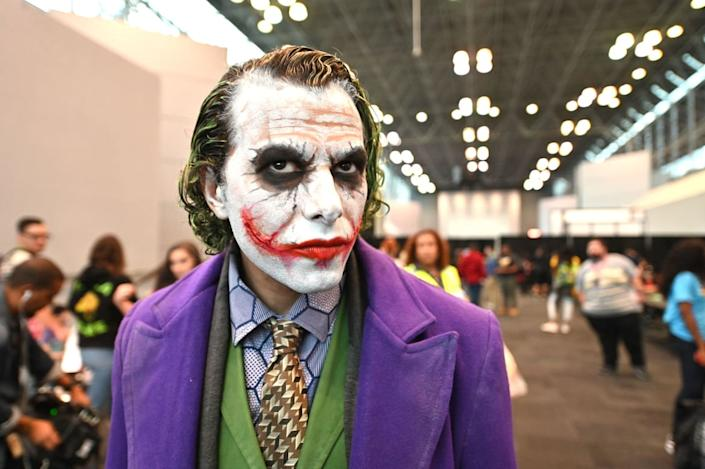 """<div class=""""inline-image__caption""""><p>A cosplayer dressed as The Joker attends the New York Comic Con at Jacob K. Javits Convention Center on October 03, 2019 in New York City. </p></div> <div class=""""inline-image__credit"""">Dia Dipasupil/Getty</div>"""
